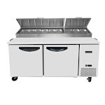 Padela PDP-67-HC - Refrigerated Pizza Prep Table, two-section, 67.1