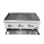 Padela PCRB-36 - Heavy Duty Radiant Charbroiler, natural gas, countertop, 36