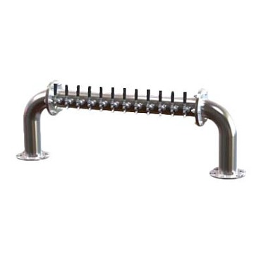 "Perlick 4065-16 - Pass-Thru Beer Dispensing Tower, 67-7/16""W x 20""H, (16) chrome faucets"