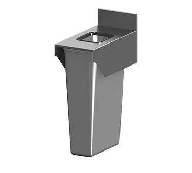 "Perlick TSF12BTB - Trash Receptacle Top Cover, 12""W x 24""D x 13-9/16""H"