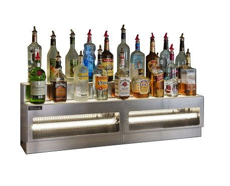 "Perlick LMDS2-48R - Lighted Merchandise Display, raised 2-tier, 48""W, white LED, right end"