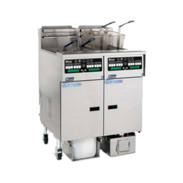 Pitco SSHLV14T-C/FD - Reduced Oil Volume Fryer System, gas (1) fryer: (2) 17 lb oil capacity twin tank, with push button top off