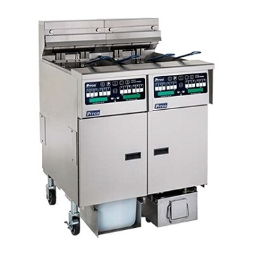 Pitco SELV14T-C/FD - Reduced Oil Fryer, electric, split frypot, (2) oil tanks, built-in Filter