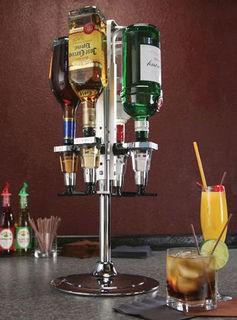 Precision Pourers RO4MM - Rotary Metered Liquor Dispenser, 4 bottle