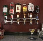 Precision Pourers WMMO - Wall Mount Non-Metered Liquor Dispenser, 6 bottle