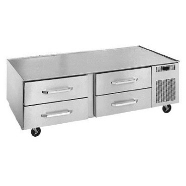 Randell LPRES1R2-72C4 - Refrigerated Equipment Stand, 2-Section