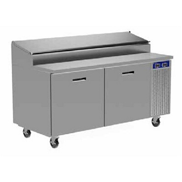Randell 8395N-290 - Refrigerated Raised Rail Prep Table, Three Door