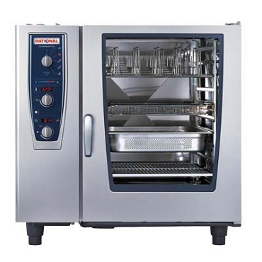 Rational B129206.19E202 - CombiMaster+, oven/steamer, NG,(10) full sheet or (20) full hotel pan, 208v