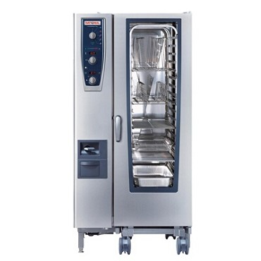 Rational B219206.19E202 - CombiMaster+, oven/steamer, NG, (20) full hotel or (20) half sheet pan, 208v