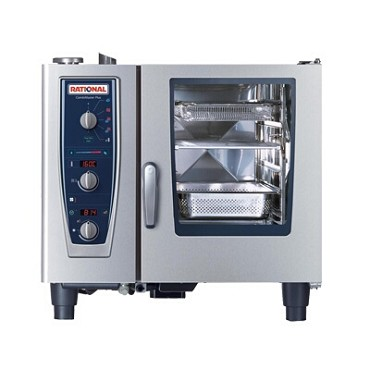 Rational B619106.19.202 - CombiMaster+, oven/steamer, elec, (6) full hotel or (6) half sheet pan, 208v