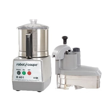 Robot Coupe R401 - Commercial Food Processor, s/s bowl w/handle, s/s continuous fee