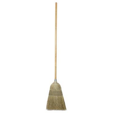"Royal BRM MAID - Maid Broom, 42"" long handle, wood (Case of 12)"