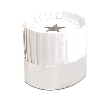 "Royal PPR HAT 7 - Disposable Chef Hat, 7"" height, white (12 per case)"