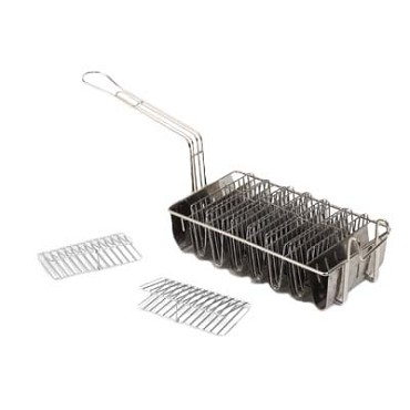 Royal ROY 23 - Taco Shell Fry Basket, 8 compartments, plated wire