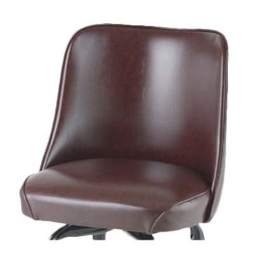Royal ROY 7714 SBRN - Bucket Seat, replacement, high back, waterfall seat, brown