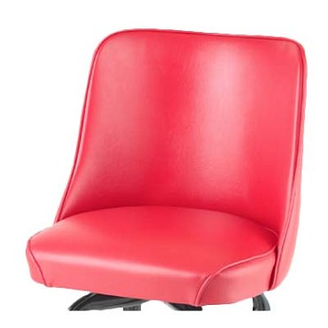 Royal ROY 7714 SR - Bucket Seat, replacement, high back, waterfall seat, red