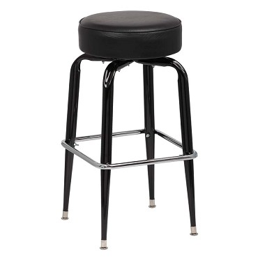 Royal ROY 7723 B - Backless Bar Stool with Vinyl Seat, (Case of 4)