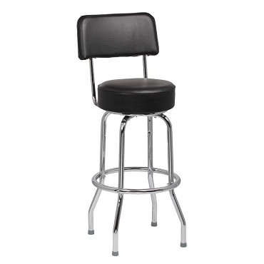 "Royal ROY 7715 B - Bar Stool, round, open back, 4-1/4"" thick seat, black (Case of 2)"