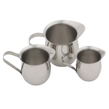 Royal ROY BE 8 - Creamer, 8 oz., bell shape, loop handle, stainless steel (Case of 12)