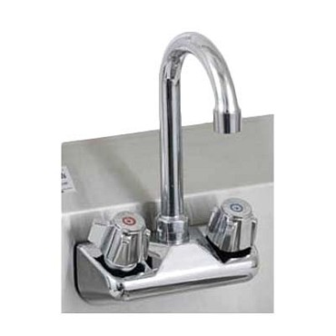 "Royal ROY HS FS 4 - Faucet, 4"" OC splash mount, with gooseneck spout"