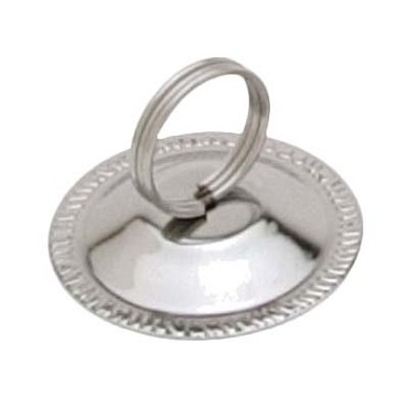 "Royal ROY MH 3 - Menu Holder, 2-1/2""H, ring style, stainless steel"