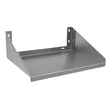 "Royal ROY MS 2424 - Microwave Shelf, 24""W x 24""D, wall mount, stainless steel"
