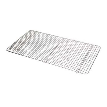 "Royal ROY PANG 1 - Drain Grate, 10"" x 18"", full-size, woven wire, chrome plated"