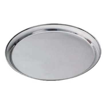 "Royal ROY ST 14 - Service Tray, 14"" dia., round, stainless steel"