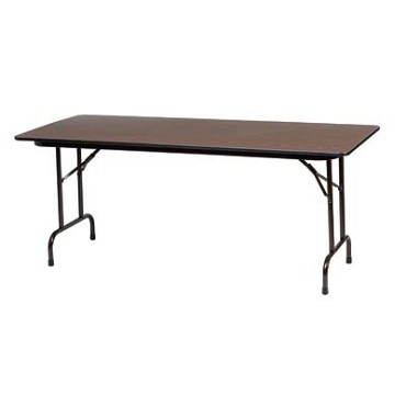 Royal COR BT 3096 - Folding Banquet Table with Walnut Finish, 30 x 96 in.