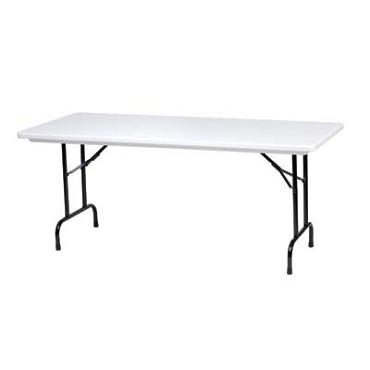 Royal COR BT P 3096 - Folding Banquet Table with Gray Top, 30 x 96 in.
