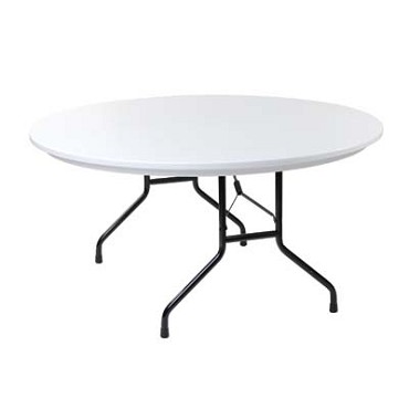 Royal COR BT P 60 R - Round Folding Banquet Table with Gray Top, 60 in.