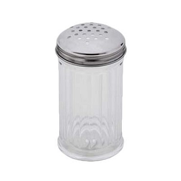 Royal ROY CS 12 - Cheese Shaker, 12 oz., plastic base, perforated, clear, (Case of 12)