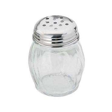 Royal ROY CS 6 P - Cheese Shaker, 6 oz., glass base, perforated, clear (Case of 72)