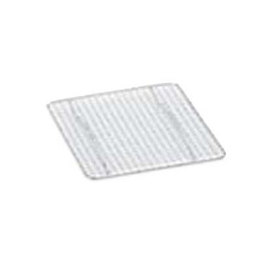"Royal ROY PANG 4 - Drain Grate, 12"" x 16-1/2"", half-size, woven wire, chrome plated"