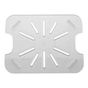 Royal ROY PCDT 1200 - Drain Tray, 1/2-size, footed, polycarbonate, clear, NSF