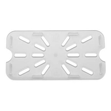 Royal ROY PCDT 1400 - Drain Tray, 1/4-size, footed, polycarbonate, clear, NSF