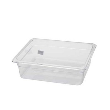 "Royal ROY PCP 1204 - Food Pan, half-size, 4"" deep, clear polycarbonate, NSF"