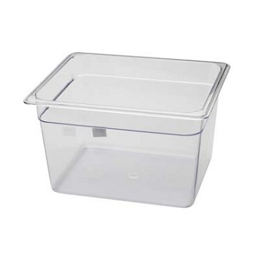 "Royal ROY PCP 1208 - Food Pan, half-size, 8"" deep, clear polycarbonate, NSF"