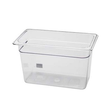 "Royal ROY PCP 1308 - Food Pan, 1/3-size, 8"" deep, clear polycarbonate, NSF"