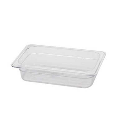"Royal ROY PCP 1402 - Food Pan, 1/4-size, 2"" deep, clear polycarbonate, NSF"