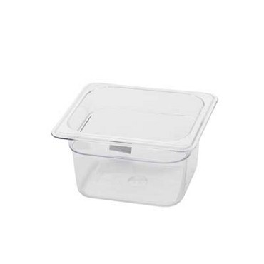 "Royal ROY PCP 1604 - Food Pan, 1/6-size, 4"" deep, clear polycarbonate, NSF"