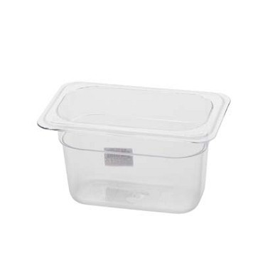 "Royal ROY PCP 1904 - Food Pan, 1/9-size, 4"" deep, clear polycarbonate, NSF"