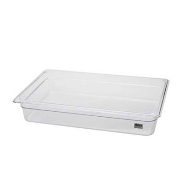 "Royal ROY PCP 2004 - Food Pan, full-size, 4"" deep, clear polycarbonate, NSF"
