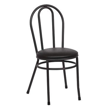 Royal ROY 717 B - Bistro Side Chair with Hairpin Back, Black (Case of 2)