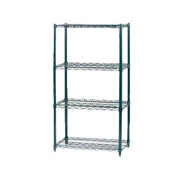 "Royal ROY AE P ZGN 34 - Shelving Post, 34"" L, green epoxy coated, (Case of 4)"