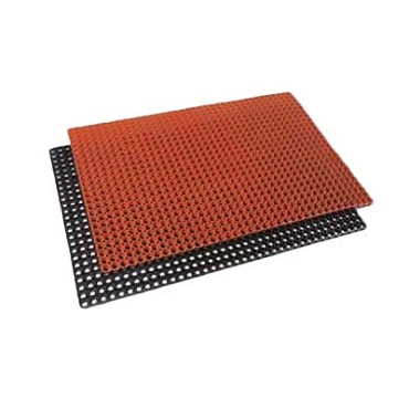 "Royal ROY KM 35 HB - Rubber Floor Mat, 3' x 5', 3/4"" thick, black"