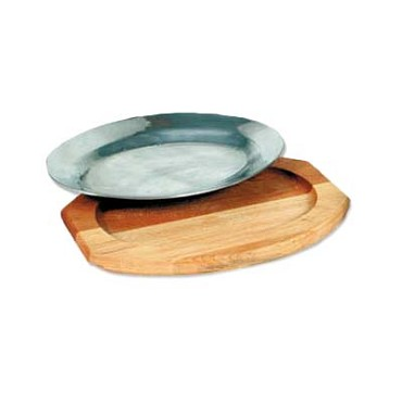 Royal ROY RSP L WD - Sizzle Platter Liner, oval, wood