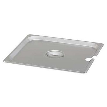 Royal ROY STP 1200 2 - Pan Cover, half size, notched, stainless steel, NSF