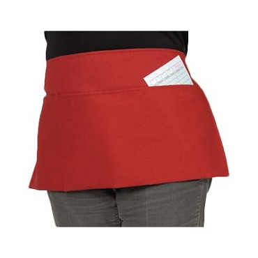 Royal RWA 743 B PKT - Waist Apron, 3 pockets, Bright Red