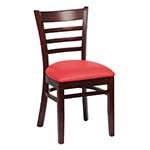 Royal ROY 8001 W RED - Ladder Back Side Chair, Red Vinyl (Case of 2)